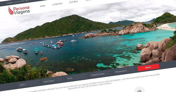 Criação de Sites para Agência de Viagem - Persona Viagens