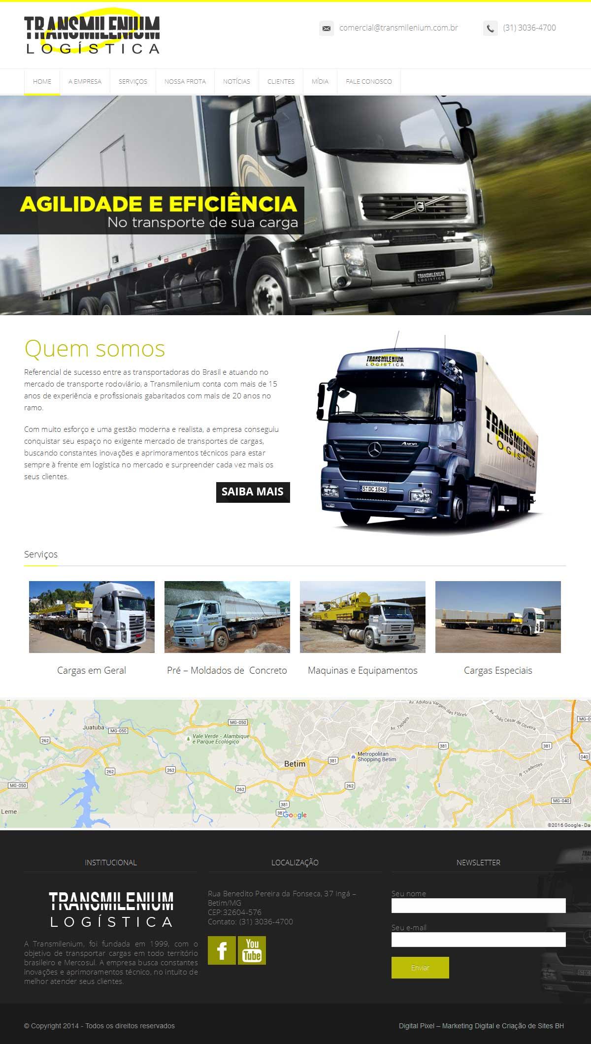 Criação de Sites para Transportadoras
