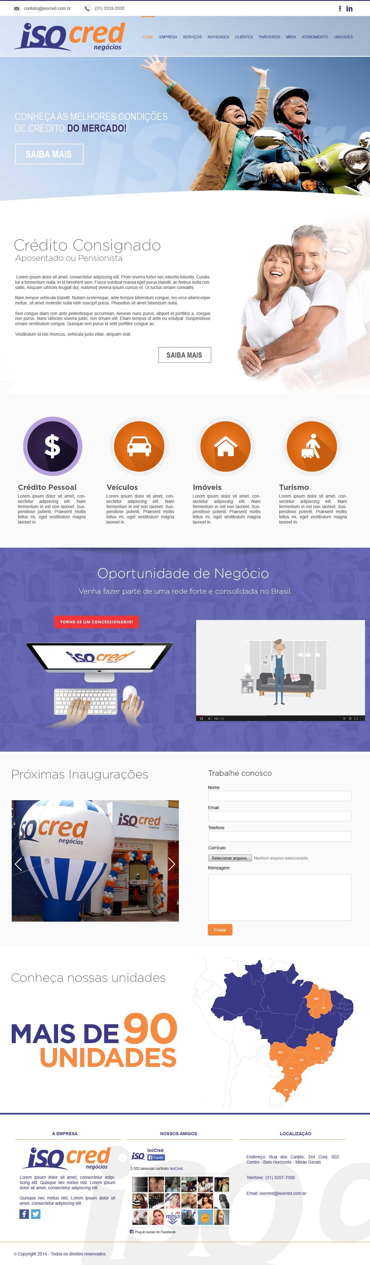 Criação de Sites para Empresas de Crédito