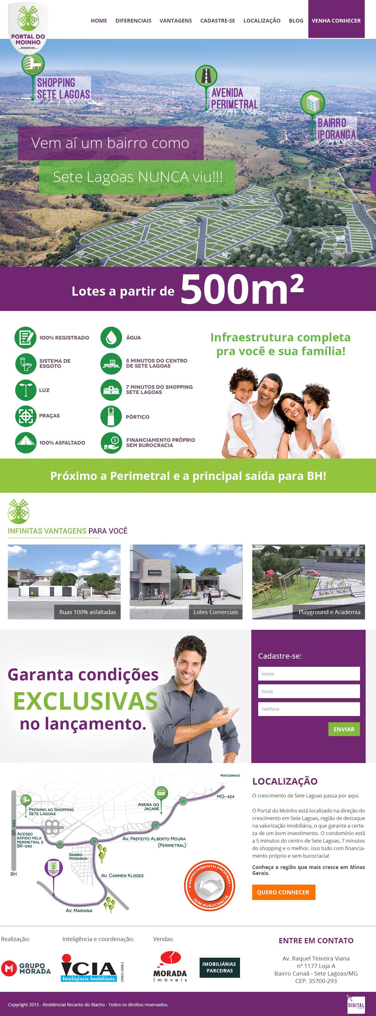 Landing Page para Imobiliárias