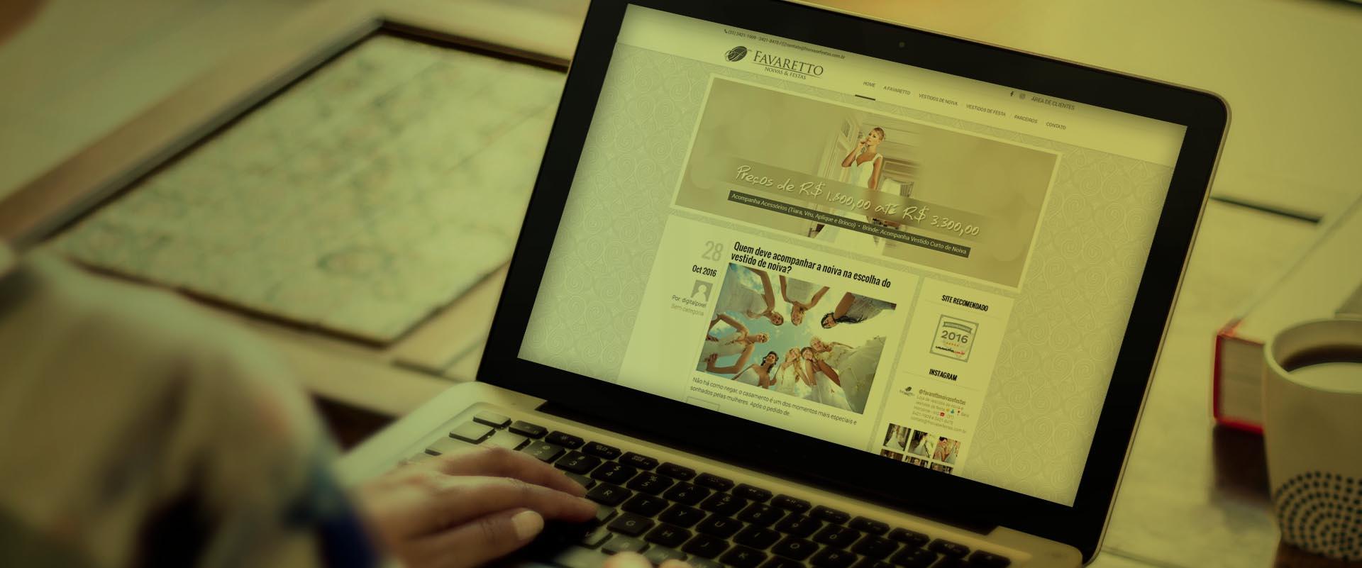 Criação de sites para aluguel de vestidos