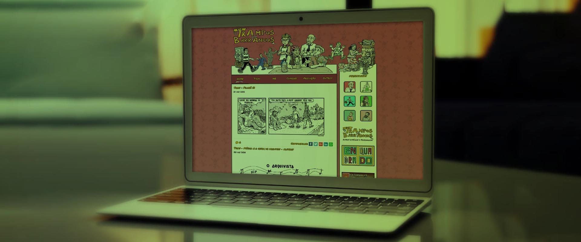 Criação de sites para cartunistas