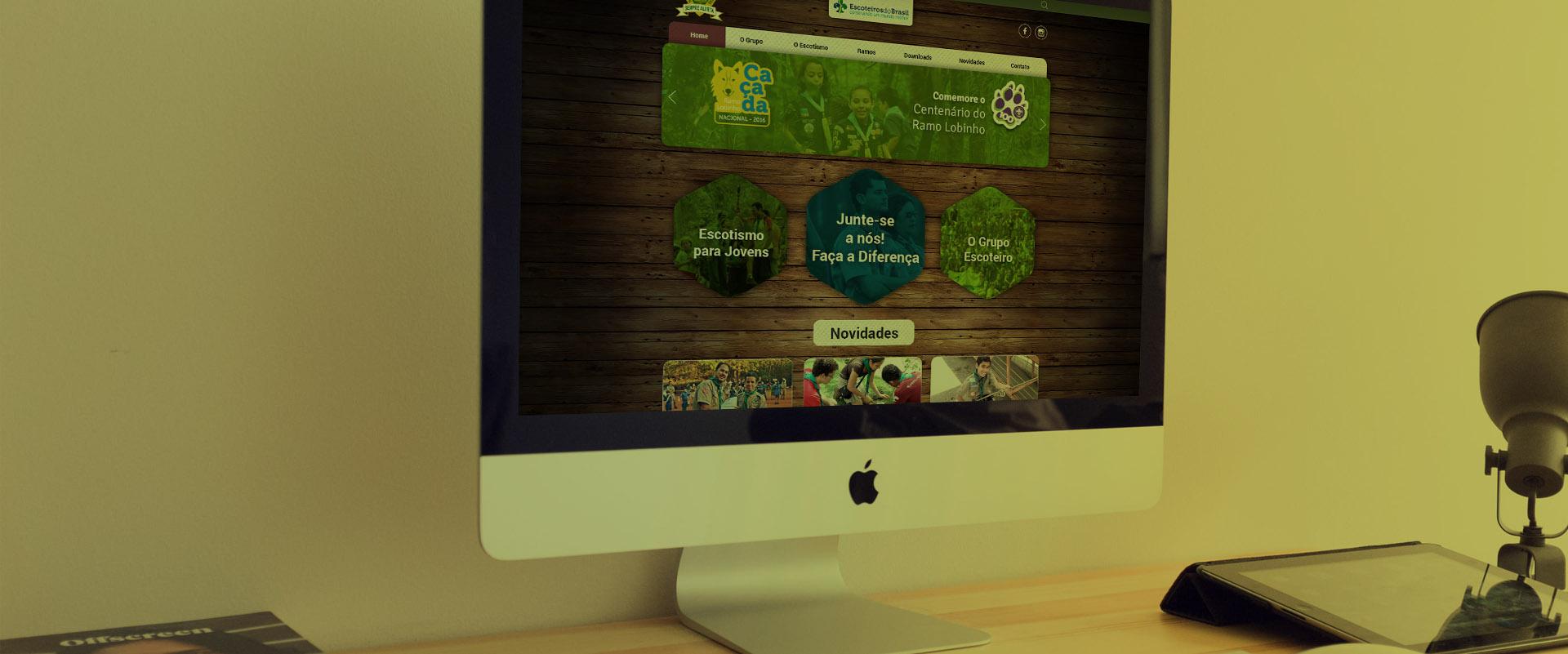Criação de sites para escoteiros