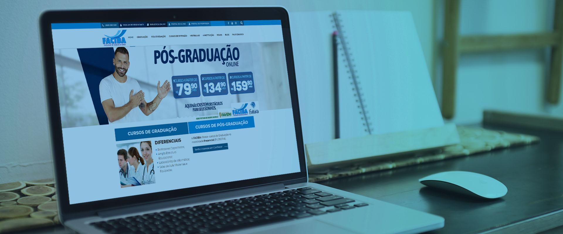 Criação de sites para faculdades