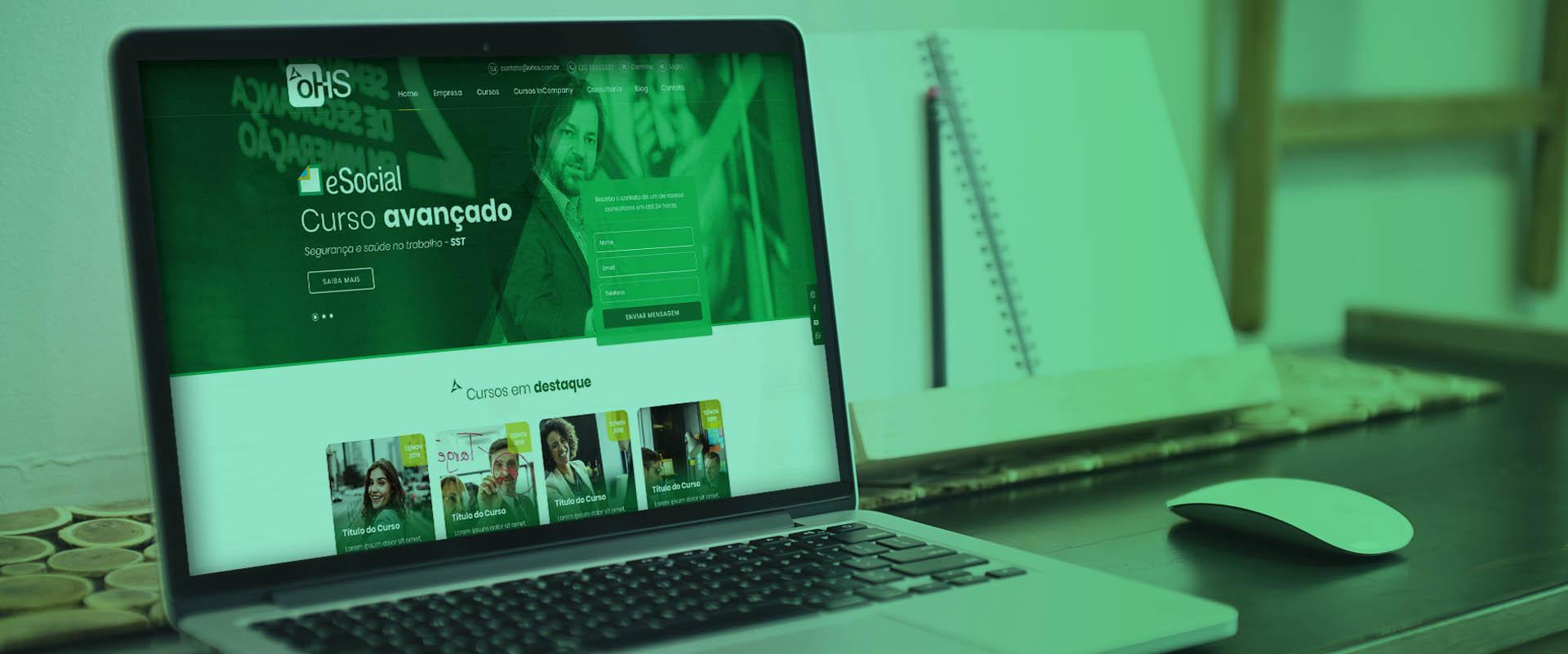 Criação de sites para palestrantes