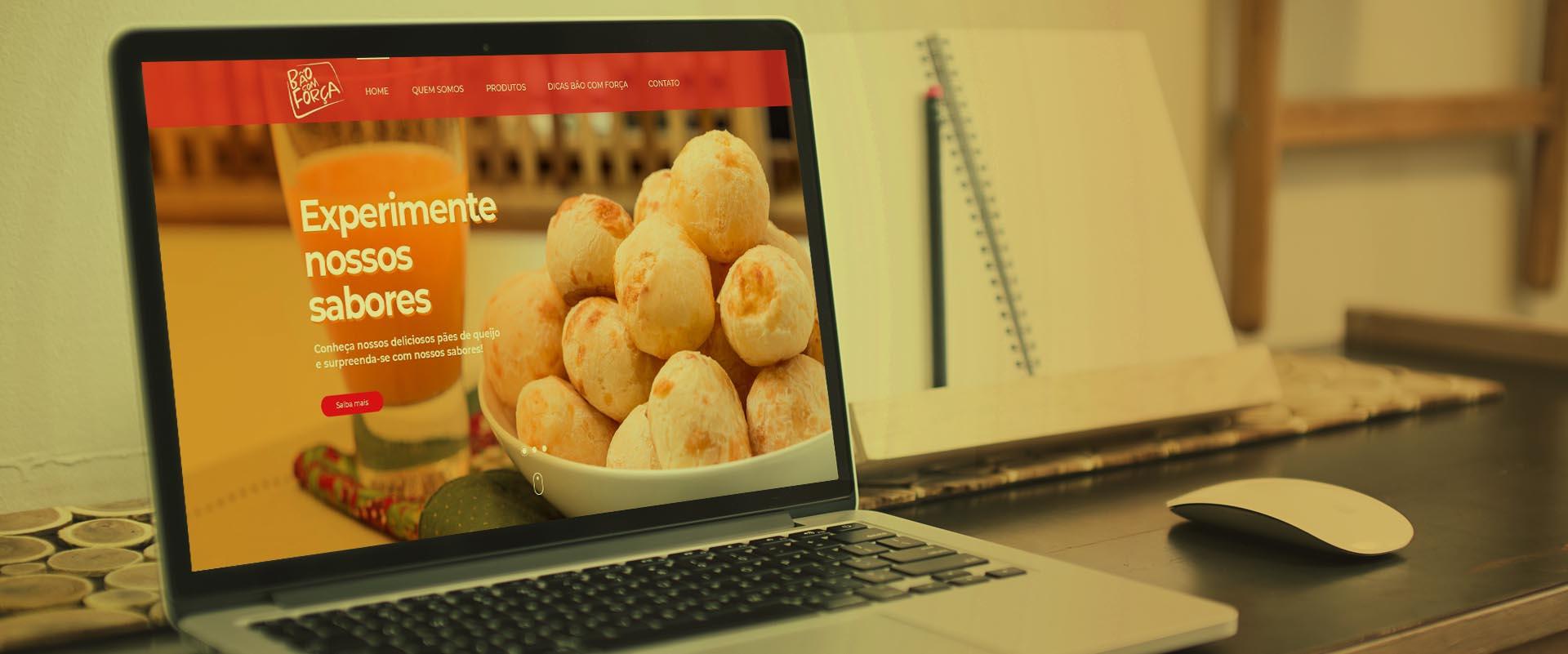 Criação de sites para empresas de alimentos