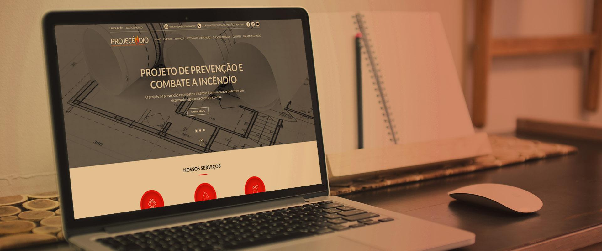 Criação de sites para empresas de prevenção a incêndio