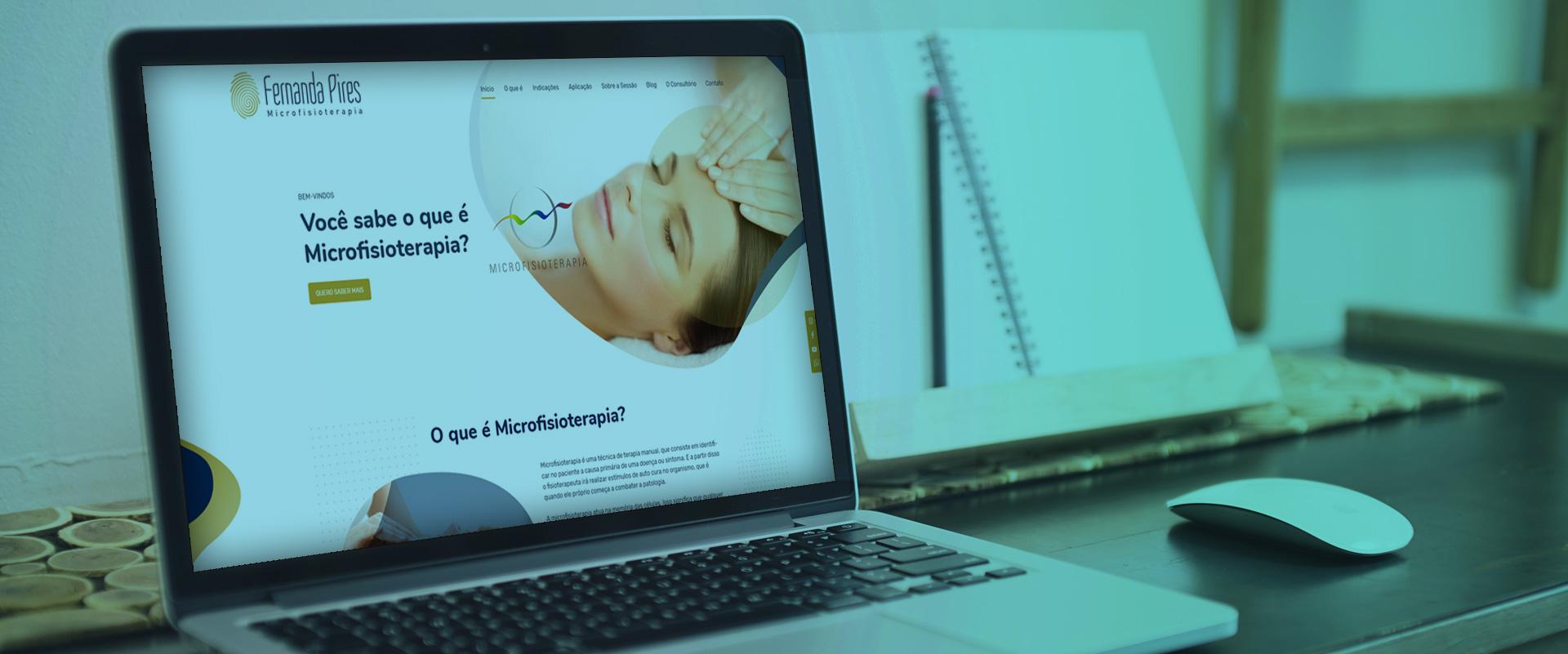 Criação de sites para Fisioterapeutas